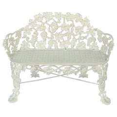 American Garden Bench or Seat of Cast Iron by Hart