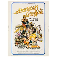 """American Graffiti"" Original Vintage Movie Poster by Mort Drucker, 1973"