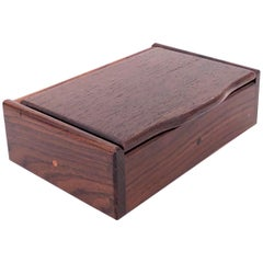 American Handcrafted Rosewood Solid Wood Jewelry Box