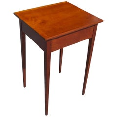 American Hepplewhite Cherry Stand with Original Squared Tapered Legs, Circa 1810