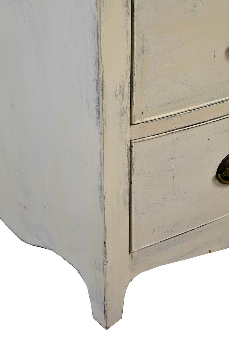American Hepplewhite Chest of Drawers with Gustavian Grey-White Paint For Sale 8