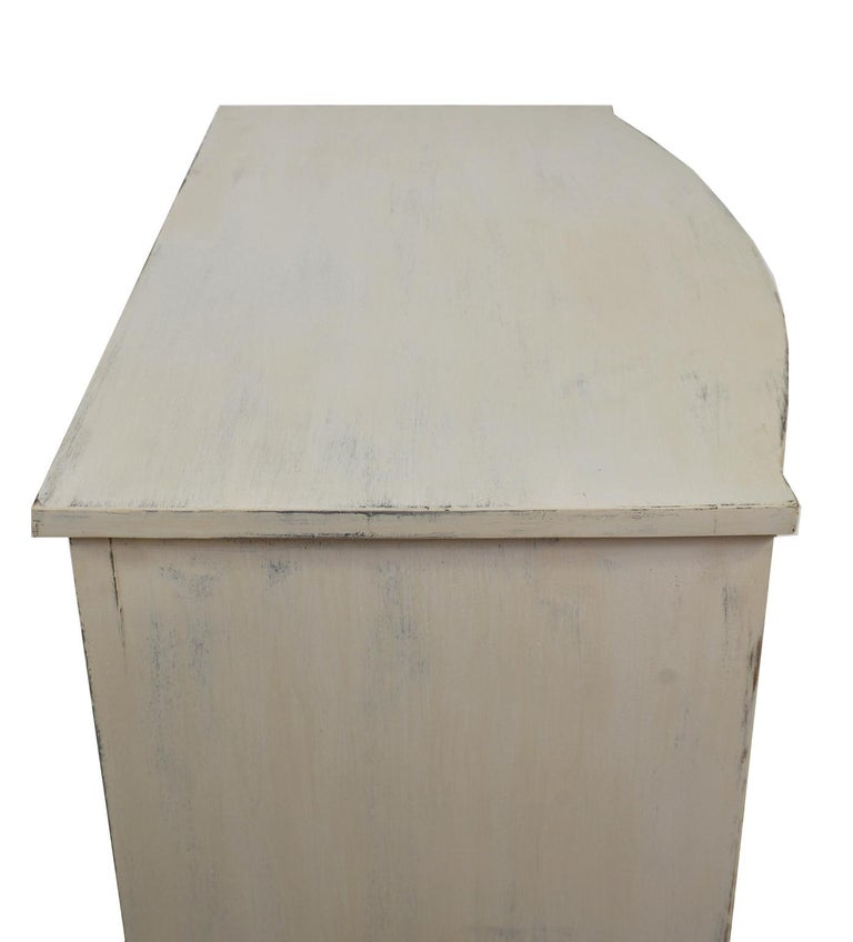 American Hepplewhite Chest of Drawers with Gustavian Grey-White Paint For Sale 9
