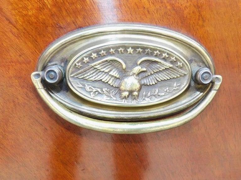 American Hepplewhite Mahogany Serpentine Two Drawer Inlaid Sideboard, Circa 1790 12