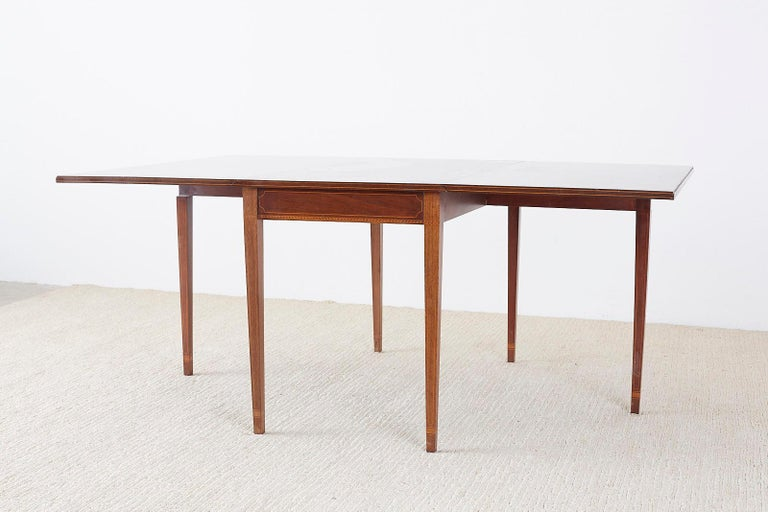American Hepplewhite Style Mahogany Banquet Dining Table For Sale 4
