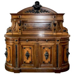 American High Victorian Hunt/Sideboard, in the Style of Alexander Roux