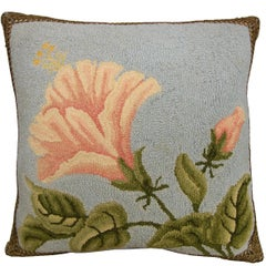 American Hooked Pillow, circa 1920 1508p