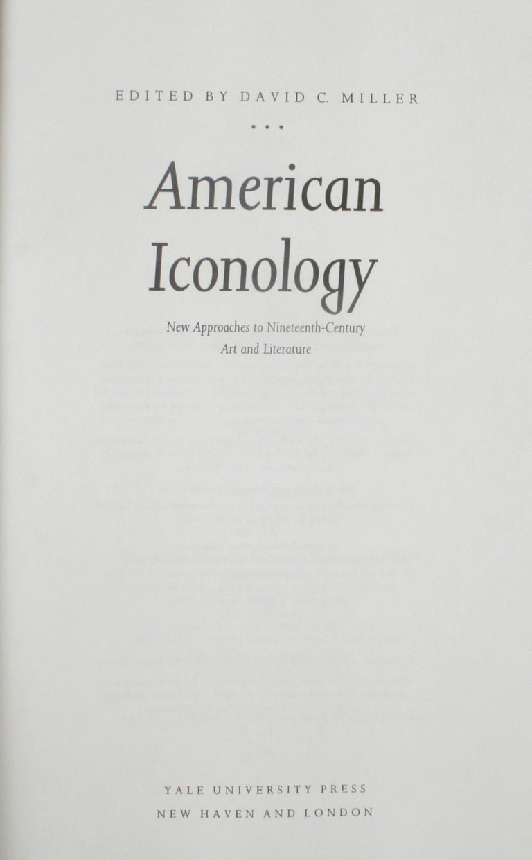 American Iconology, First Edition In Excellent Condition For Sale In valatie, NY