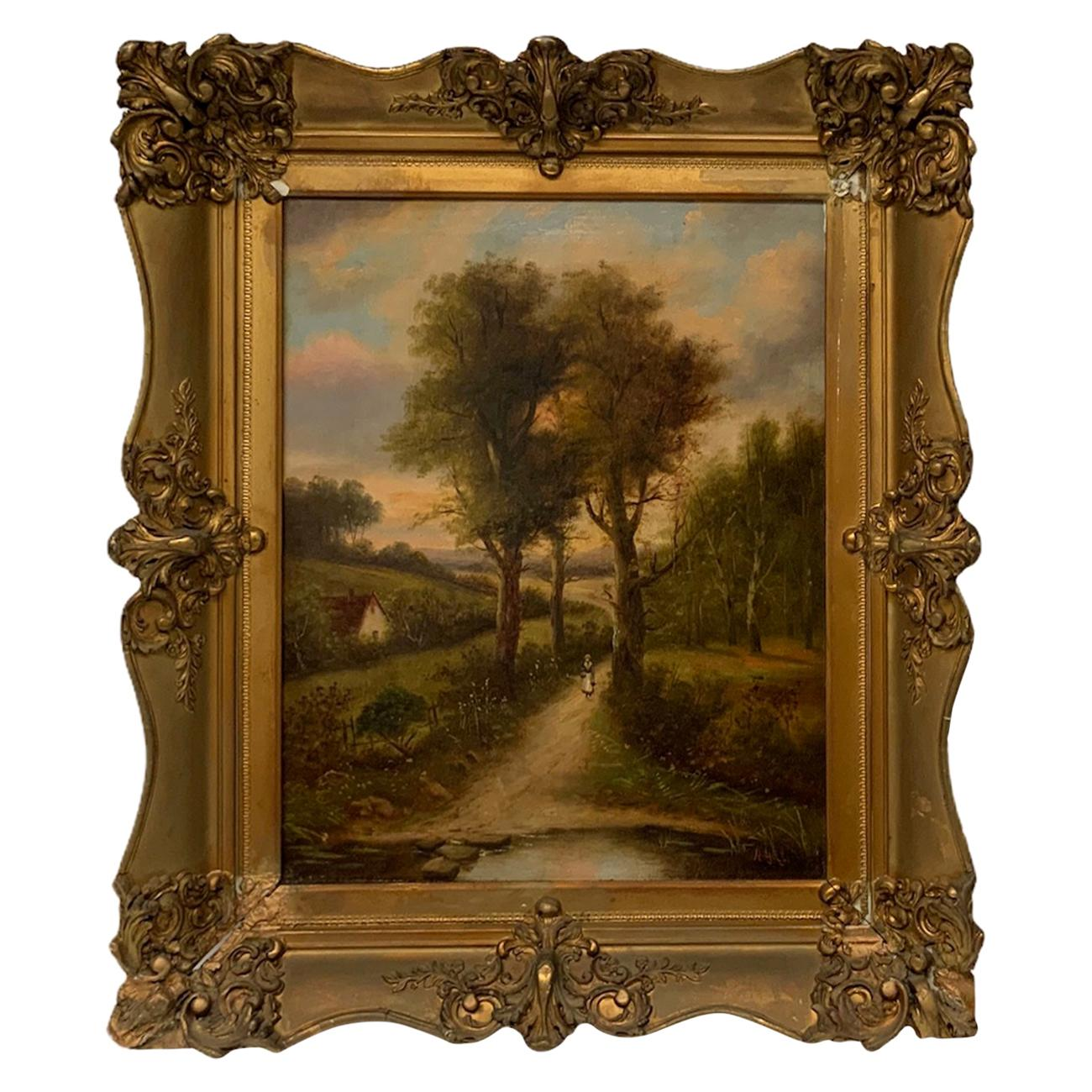American Impressionist Countryside Oil Painting