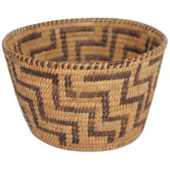 American Indian Pima Basket, Rare Form