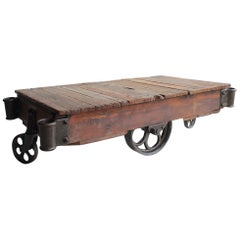 American Industrial Cart Coffee Table, More Available