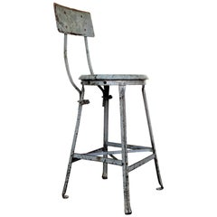 American Industrial Factory Stool