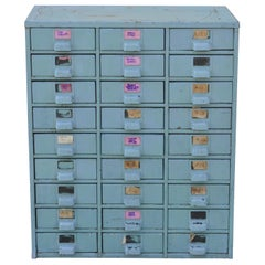 American Industrial Green Steel Metal 27 Drawer Machinist Tool Chest Cabinet