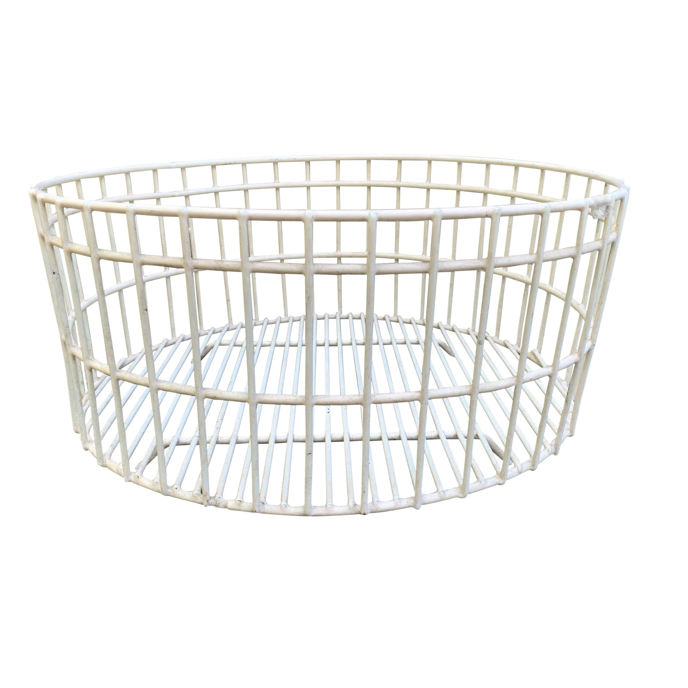 pair of small decorative flat wire baskets at 1stdibs.htm vintage flat woven serving fruit basket tray at 1stdibs  vintage flat woven serving fruit basket