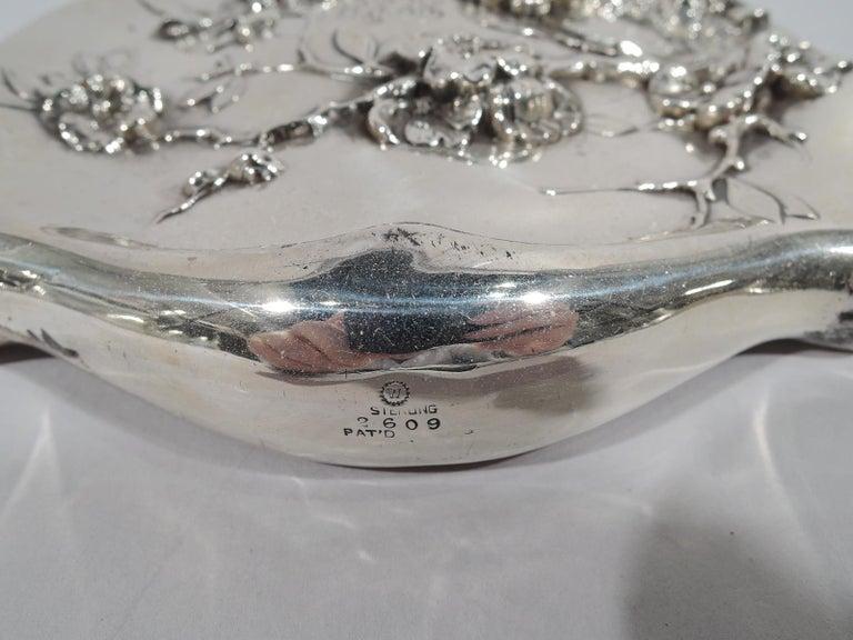 American Japonesque Art Nouveau Sterling Silver Geisha Vanity Set For Sale 6