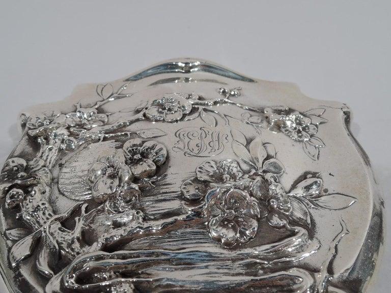 Women's American Japonesque Art Nouveau Sterling Silver Geisha Vanity Set For Sale