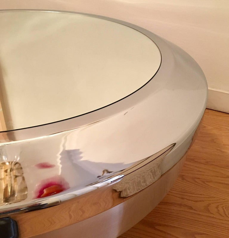 Mirror American John Neville, 1960s Space Age Table For Sale
