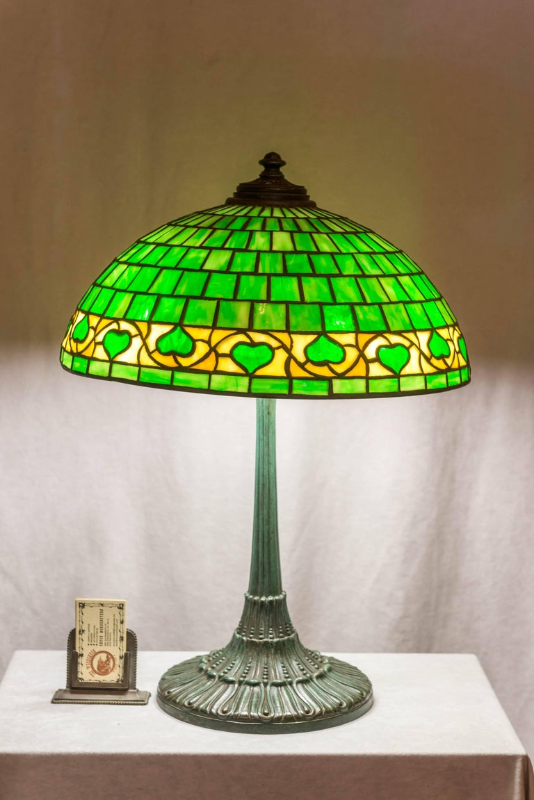 American Leaded Glass Table Lamp By Wilkinson Circa 1910