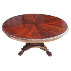 American Mahogany Oval Library Table. Circa 1820