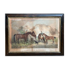 """American Lithograph Print of """"Trotting Gallery"""" by Sarony Major & Knapp"""