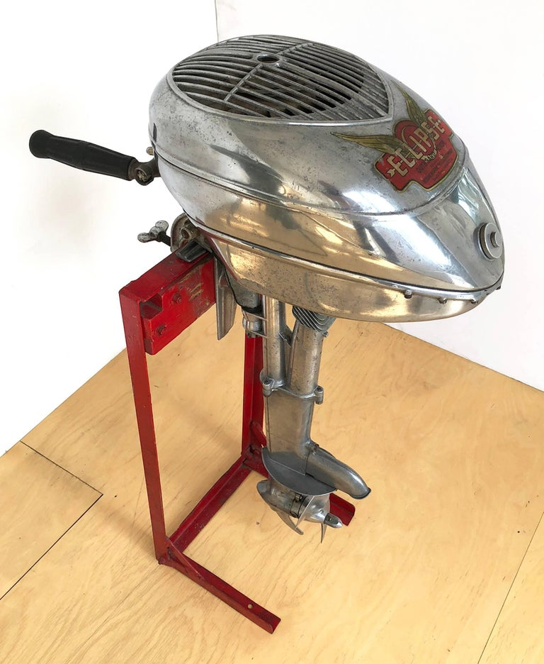 Aluminum American Machine Age Outboard Motor
