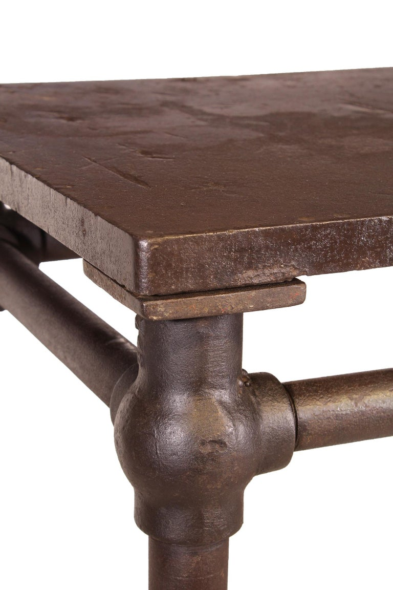 American Made Cast Iron & Steel Industrial Stationary Printers Letterpress Table For Sale 6