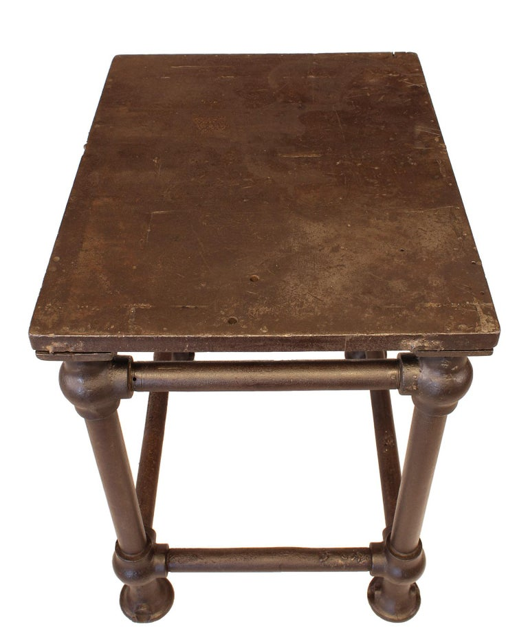 American Made Cast Iron & Steel Industrial Stationary Printers Letterpress Table For Sale 11