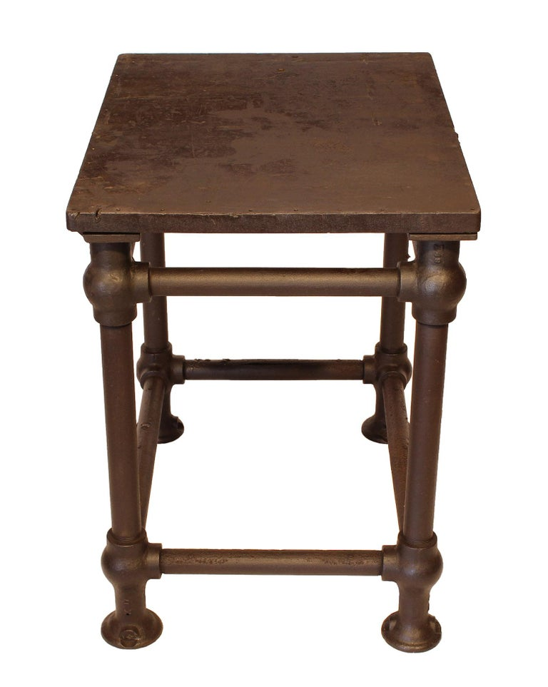 American Made Cast Iron & Steel Industrial Stationary Printers Letterpress Table For Sale 1