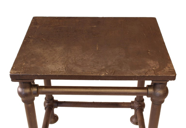 American Made Cast Iron & Steel Industrial Stationary Printers Letterpress Table For Sale 2