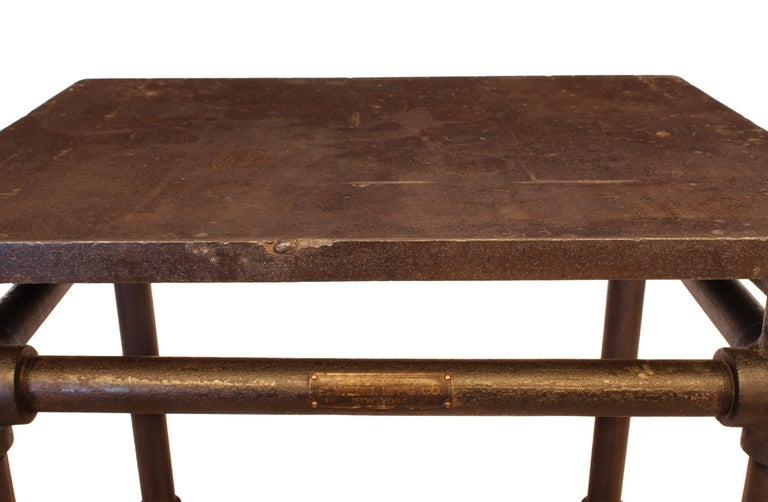 American Made Cast Iron & Steel Industrial Stationary Printers Letterpress Table For Sale 3