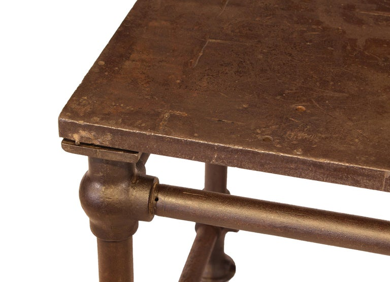 American Made Cast Iron & Steel Industrial Stationary Printers Letterpress Table For Sale 5