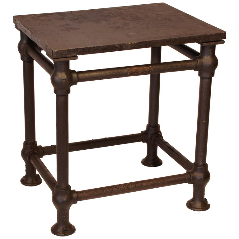 American Made Cast Iron & Steel Industrial Stationary Printers Letterpress Table For Sale