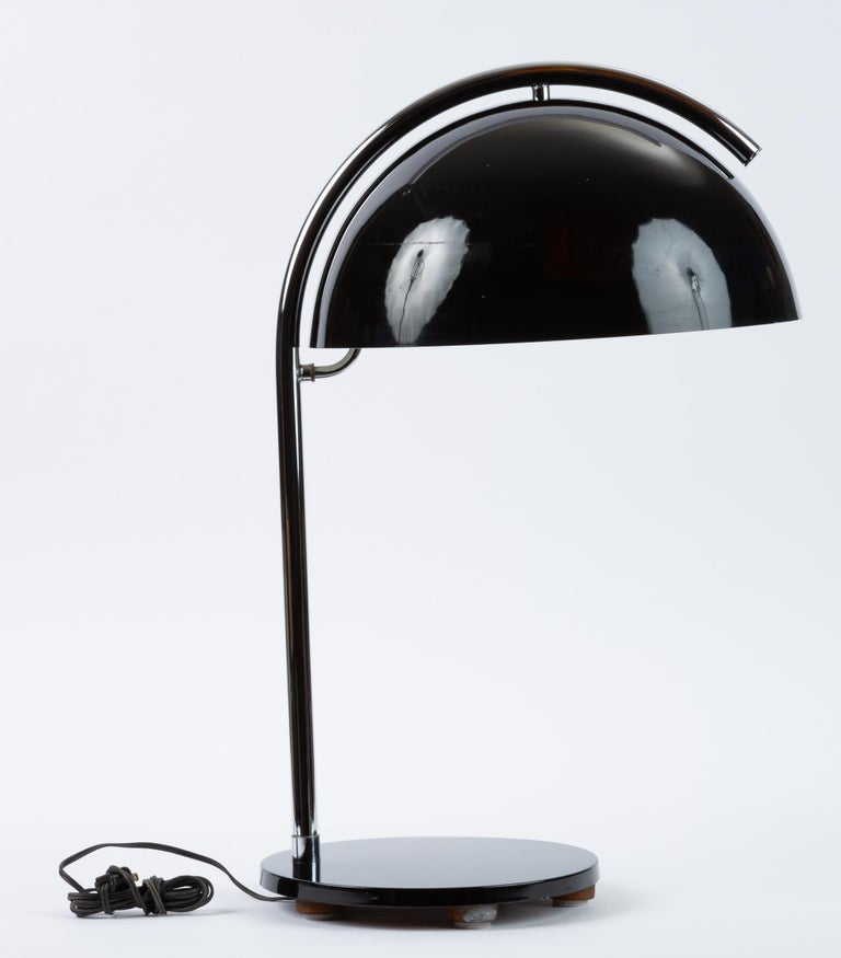 Metal American-Made Table Lamp with Mushroom Shade For Sale