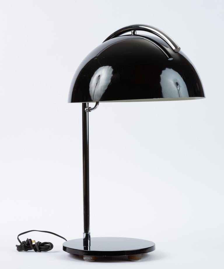 American-Made Table Lamp with Mushroom Shade For Sale 1