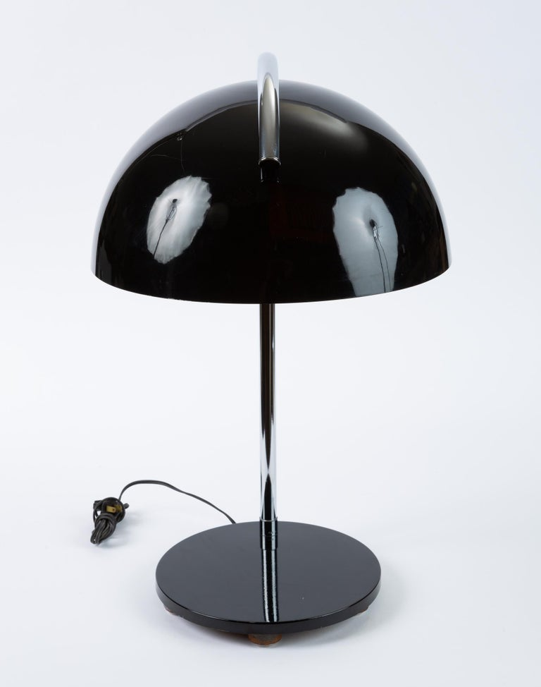 American-Made Table Lamp with Mushroom Shade For Sale 2