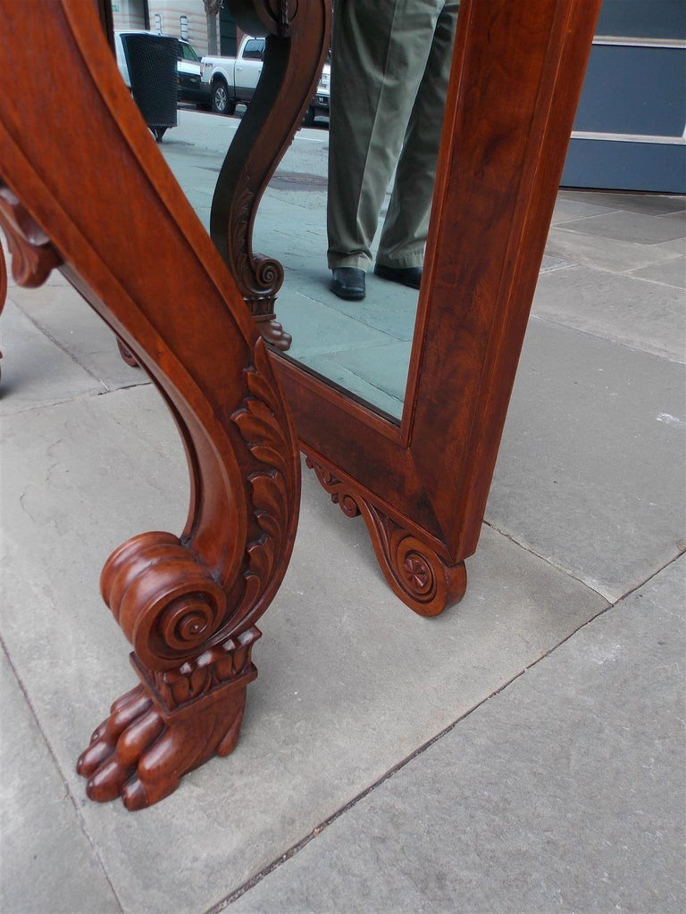 American Mahogany Acanthus Mable-Top Console, Isaac Vose, Boston, Circa 1830 For Sale 5