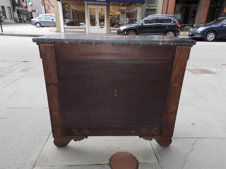 American Mahogany Acanthus Mable-Top Console, Isaac Vose, Boston, Circa 1830 For Sale 6