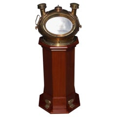 American Mahogany and Brass Ship Binnacle, Riggs & Brothers, Phila. Circa 1880