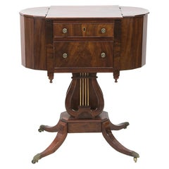 American Mahogany Sewing Table