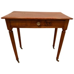 American Mahogany Single Drawer Side Table