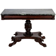 American Marble-Top Console Table