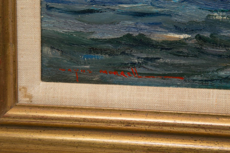 Paint American Marine Oil on Board by Wayne Morrell For Sale