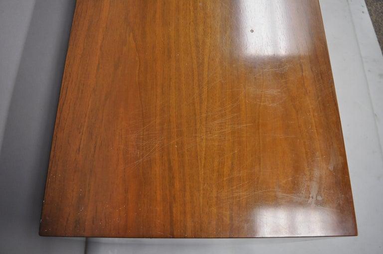 American Martinsville Walnut Louvered Drawer Mid Century Modern Dresser Credenza For Sale 3