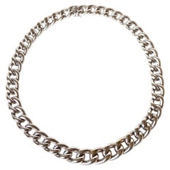 American Mesh Drop Necklace 18 Kt White Gold