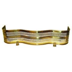 American Mid 19th Century Brass Serpentine Pierced Fender with Paw Feet