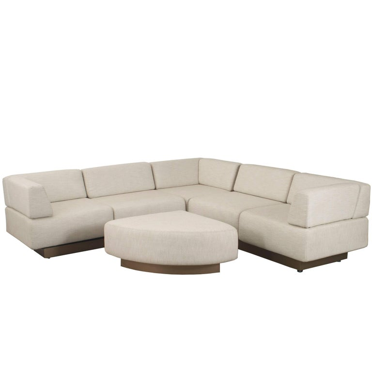 American Midcentury Four-Piece Sectional