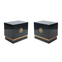 American Midcentury Ebonized End Tables