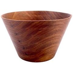 American Midcentury Hand-Turned Walnut Bowl