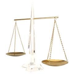 American Mid-Century Lucite Balance Scale