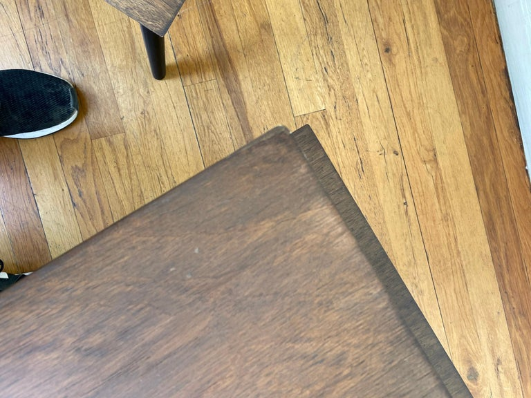 American Mid-Century Modern Pair of Walnut Step End Tables by Paul Frankl For Sale 2