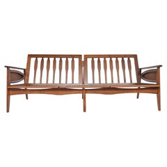 American Mid-Century Modern Refinished Sofa / Settee Frame